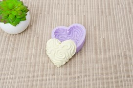 MOLD SILICONE 6.5X5.5CM MLD120 HEART6