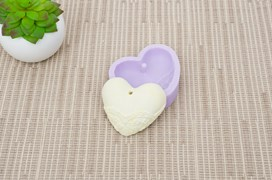MOLD SILICONE 6.5X5.5CM MLD117 HEART3