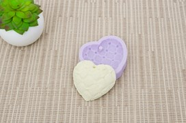 MOLD SILICONE 6.5X5.5CM MLD118 HEART4