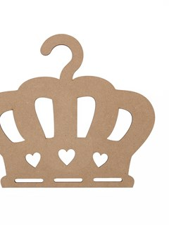 SET 2 CROWNS 30X21.2X0.3CM MDF