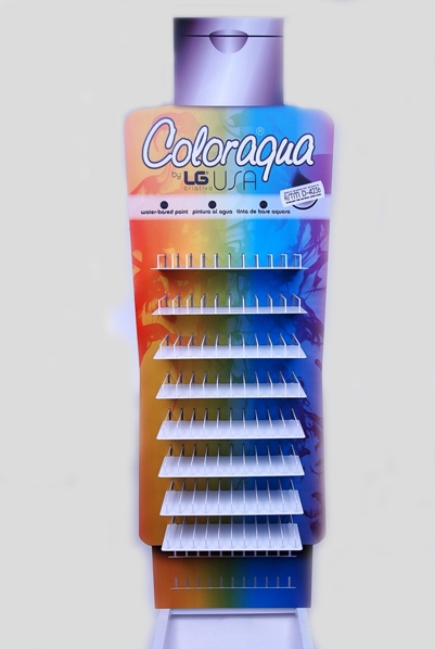 EXPOSITOR TINTAS 70ML 71x49x224CM COLORAQUA