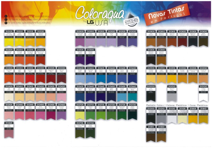 CATALOGO TINTAS 70ml COLORAQUA