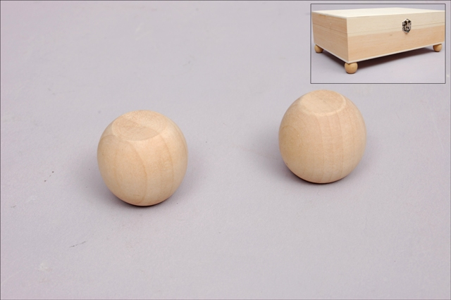 SET 6 WOOD BALLS 2.3X2.4CM