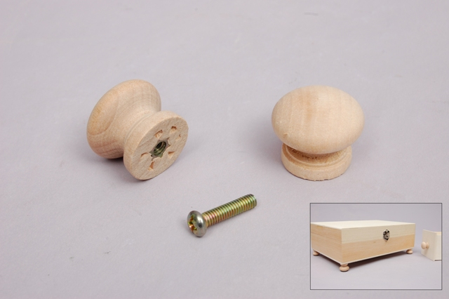 SET 6 WOOD HANDLES 2.3X2CM