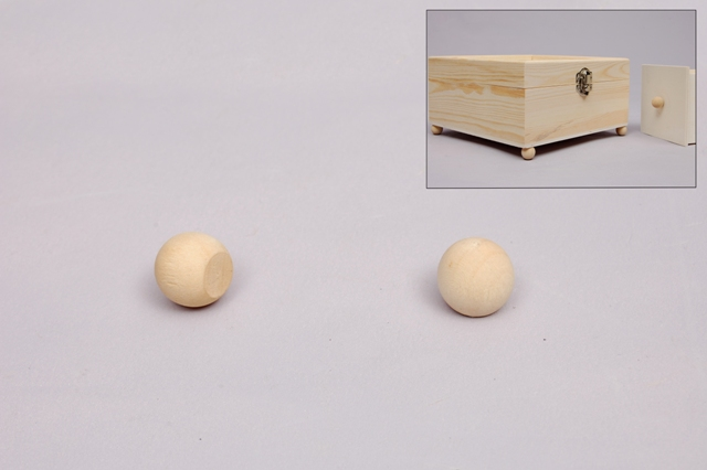 SET 12 WOOD BALLS D.1.2CM