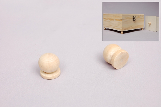 SET 12 WOOD HANDLES 1.1X1.3CM