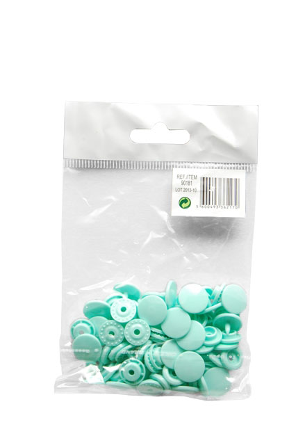 SET 20 PRESSURE BUTTONS 1.24CM GREEN AGUA