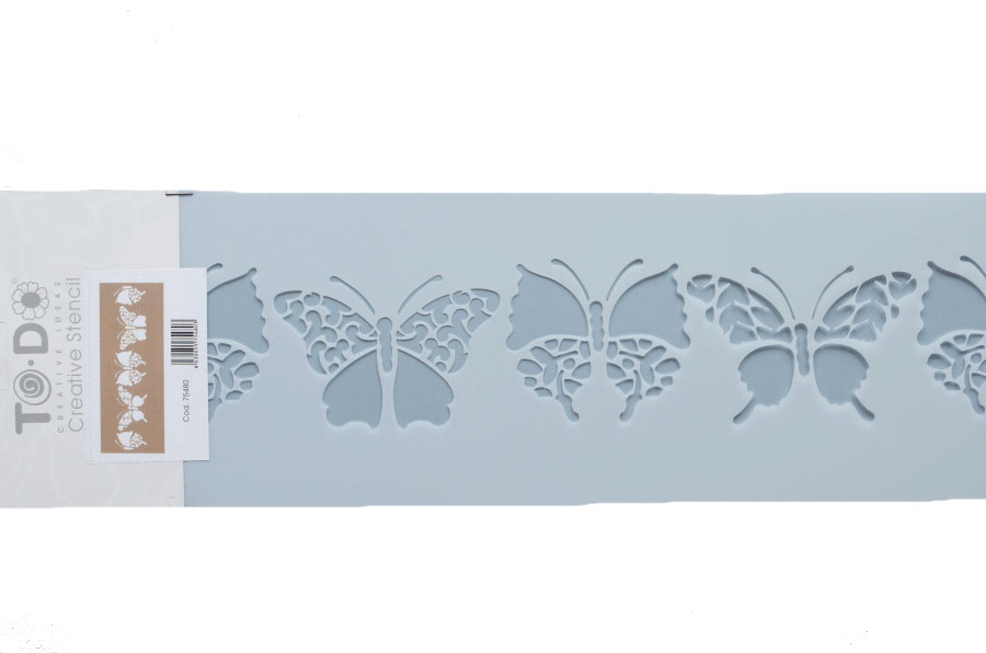 STENCIL TO-DO 15X40CM  BUTTERFLY