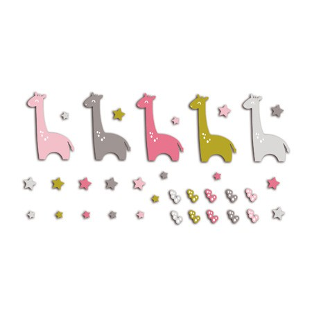 ASSORTMENT 20 PINK GIRAFFE /GREEN 3X5cm FPD77