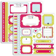 SET 2 PL.STICKERS FANTAISIE 15x15cm MERI003 TOGA