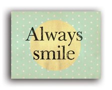 LABEL 3x4CM ALWAYS SMILE  LKZ17 TOGA