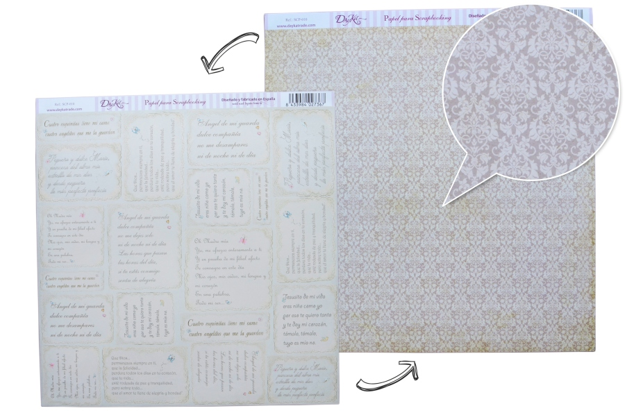 PAPER SCRAPBOOKING 30.5X30.5CM FRONT/BACK SCP-010