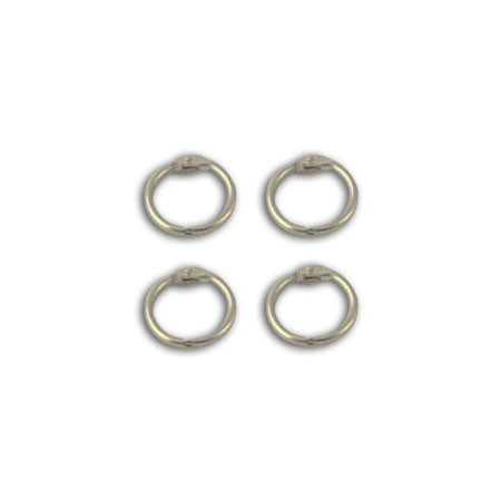SET 4 CHROME RINGS 2.3CM