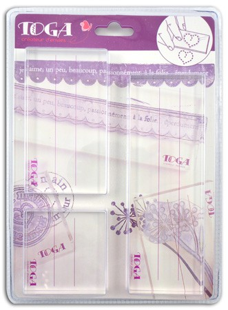 SET 3 BLOCKS ACRYLIC FOR STAMP TP16B TOGA